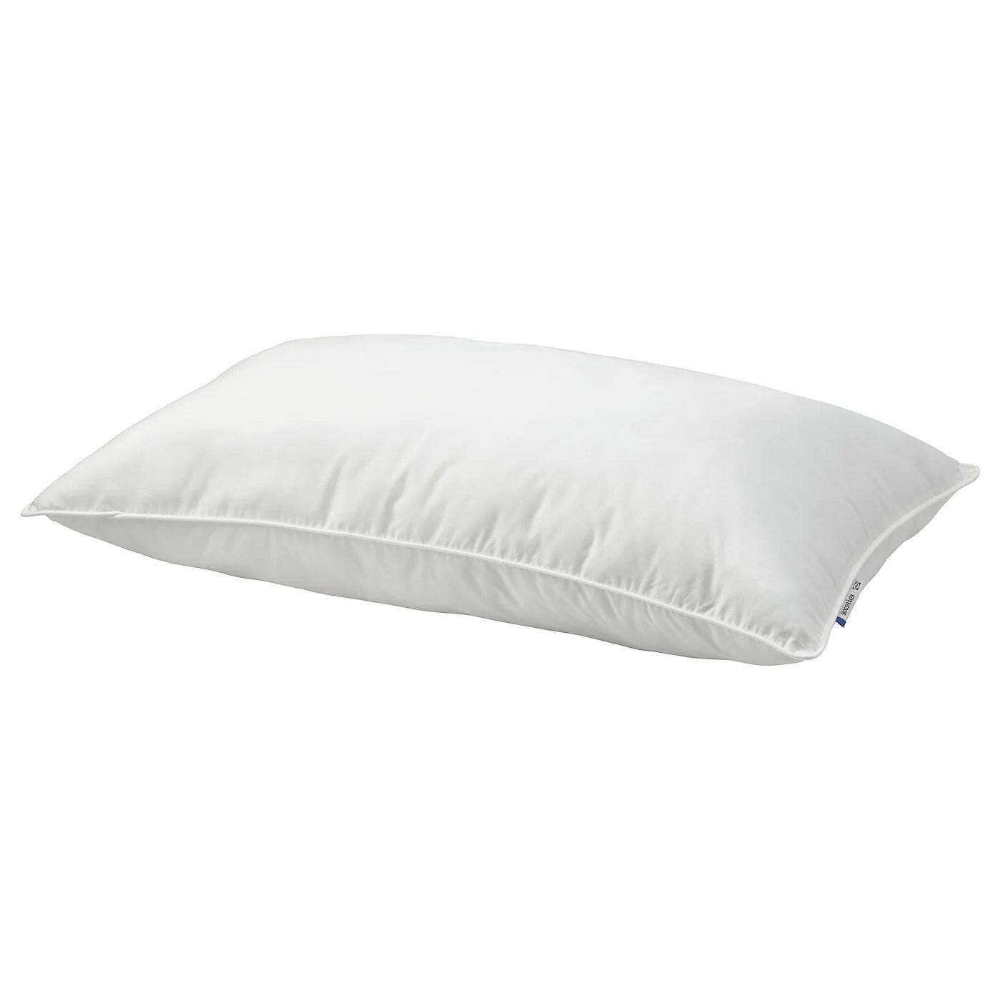 ikea firmer bed pillow white standard