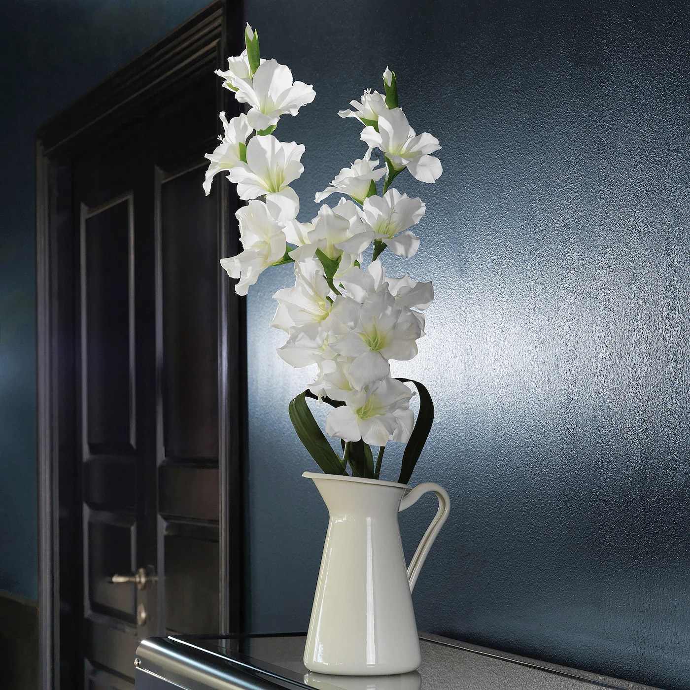 Smycka Gladiolus White Artificial Flower Ikea