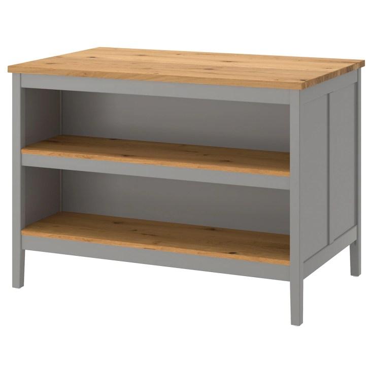 tornviken kitchen island grey/oak 126 x 77 cm - ikea