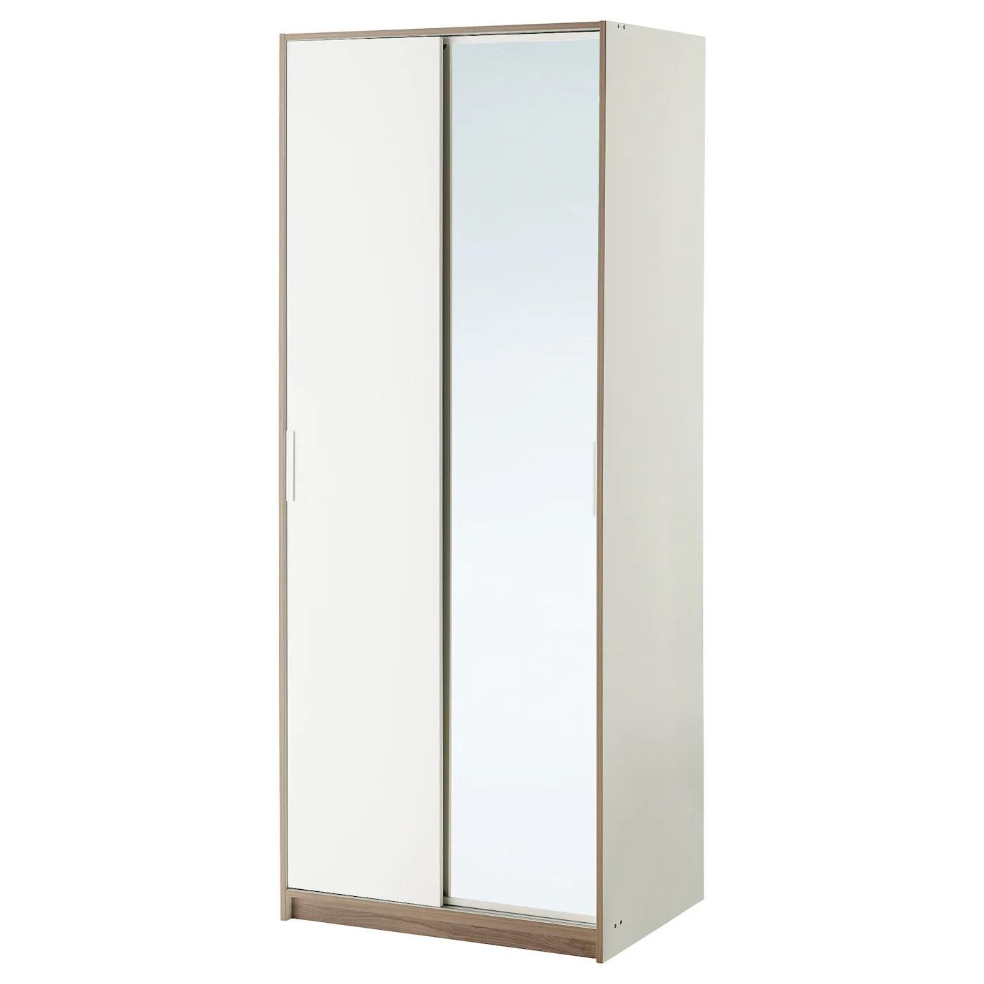 TRYSIL Wardrobe Whitemirror Glass 79 X 61 X 202 Cm IKEA