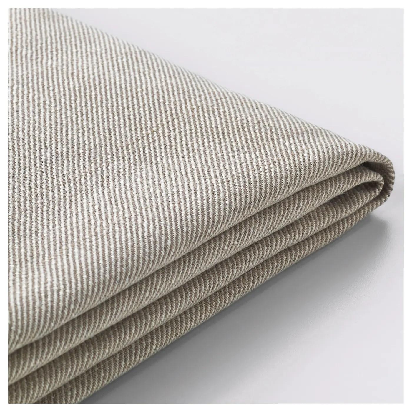 1 cover for the main frame, 1 cover for the seat cushion, 2 covers for the back cushions, and 2 covers for. EKTORP Cover three-seat sofa Nordvalla dark beige - IKEA