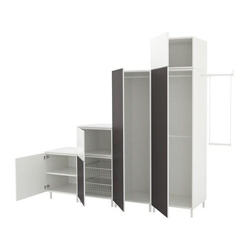 PLATSA Wardrobe White Fonnesskatval Dark Grey 275 300 X