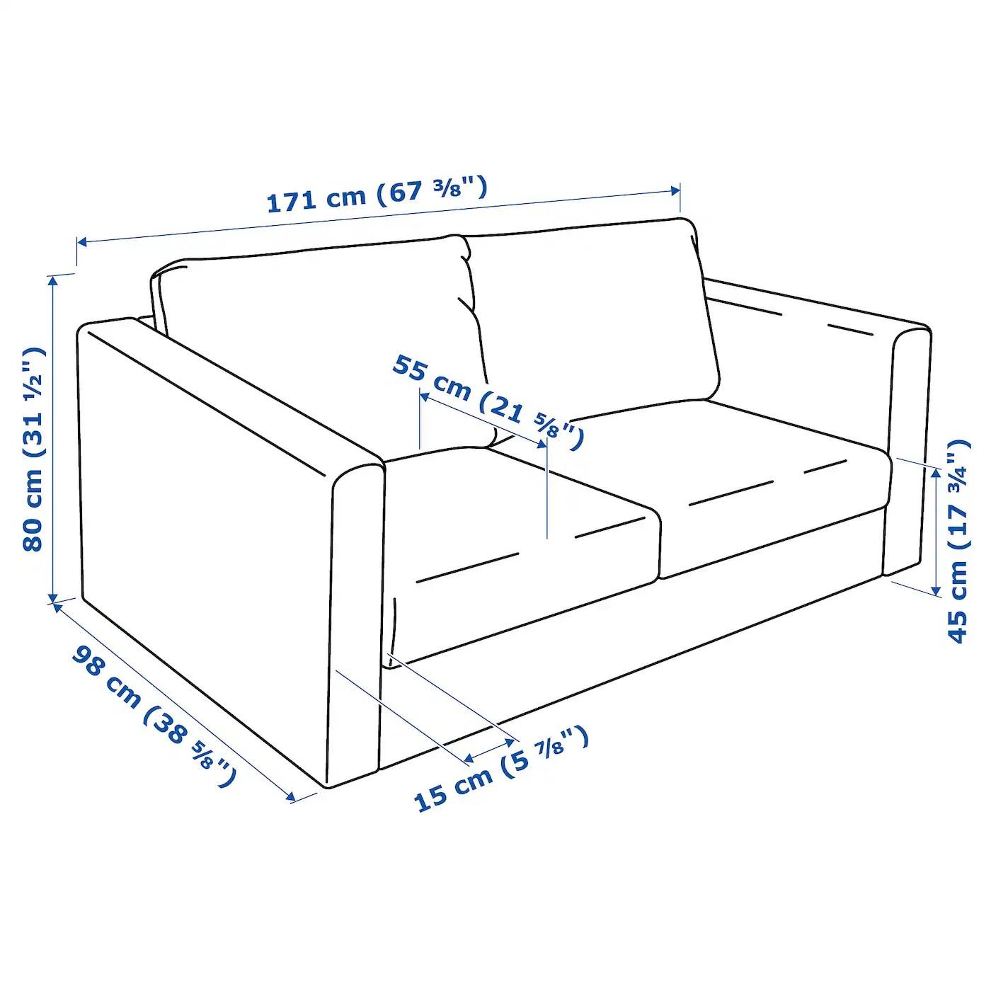 Vimle 2 Seat Sofa Farsta Dark Brown