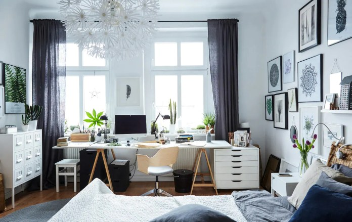 A workspace in the bedroom - IKEA
