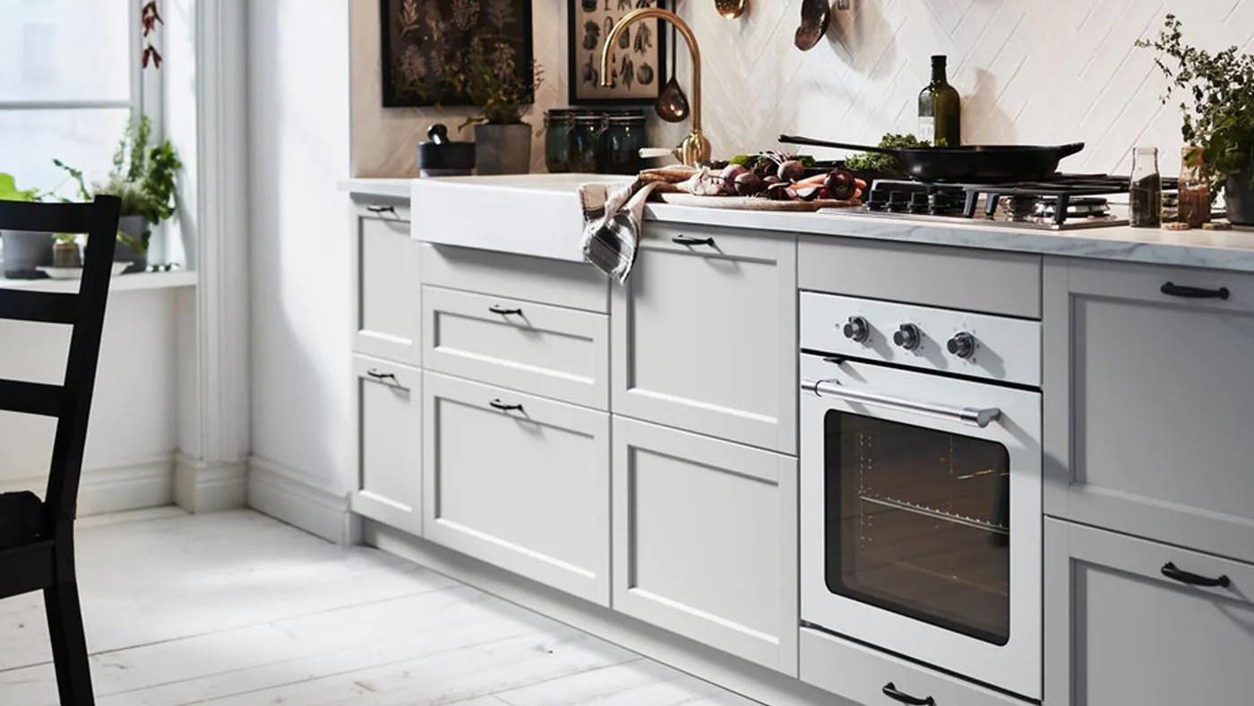 Lerhyttan Light Grey Kitchen Grey Shaker Kitchen Ikea