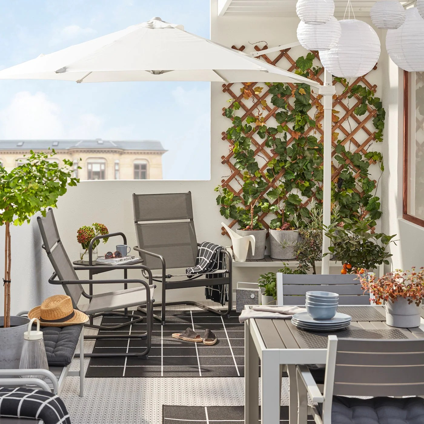 small outdoor spaces balcony ideas ikea