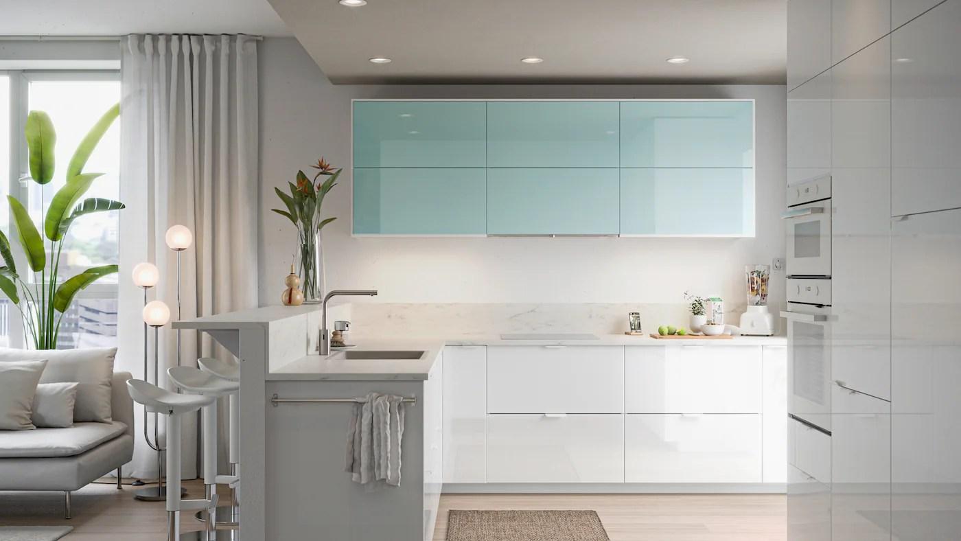 Cucina ikea, colore bianco sporco, stile shabby chic. Una Galleria Di Spunti Di Ispirazione Per La Cucina Ikea It