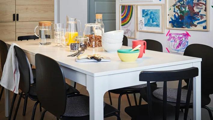 Salle à Manger Tables Et Chaises Ikea Bibliothèque Réalis