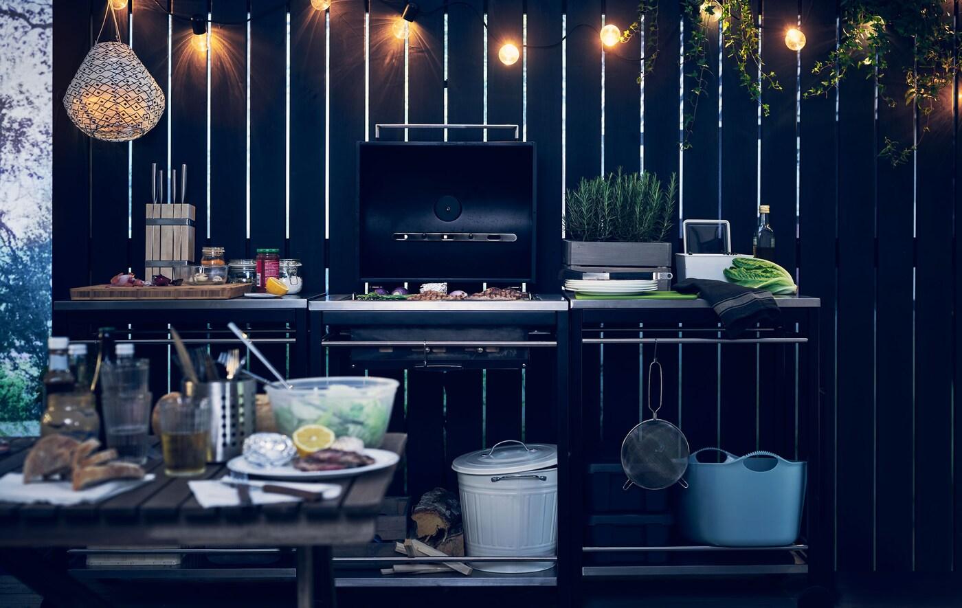 une cuisine exterieure geniale ikea