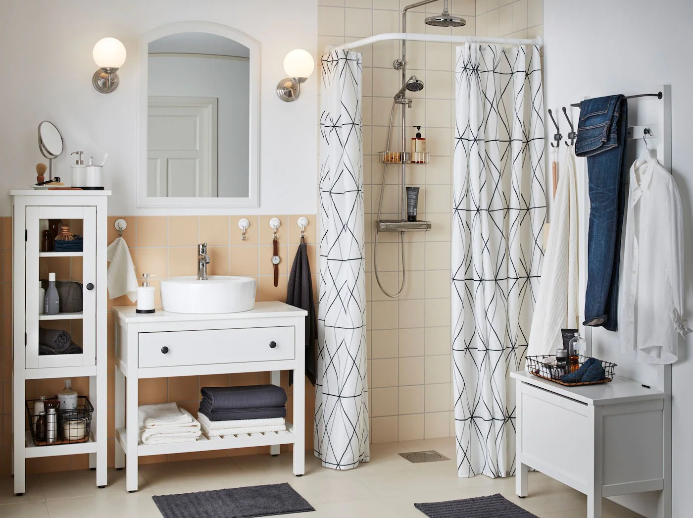 A Clutter Free Closed Storage Bathroom Ikea