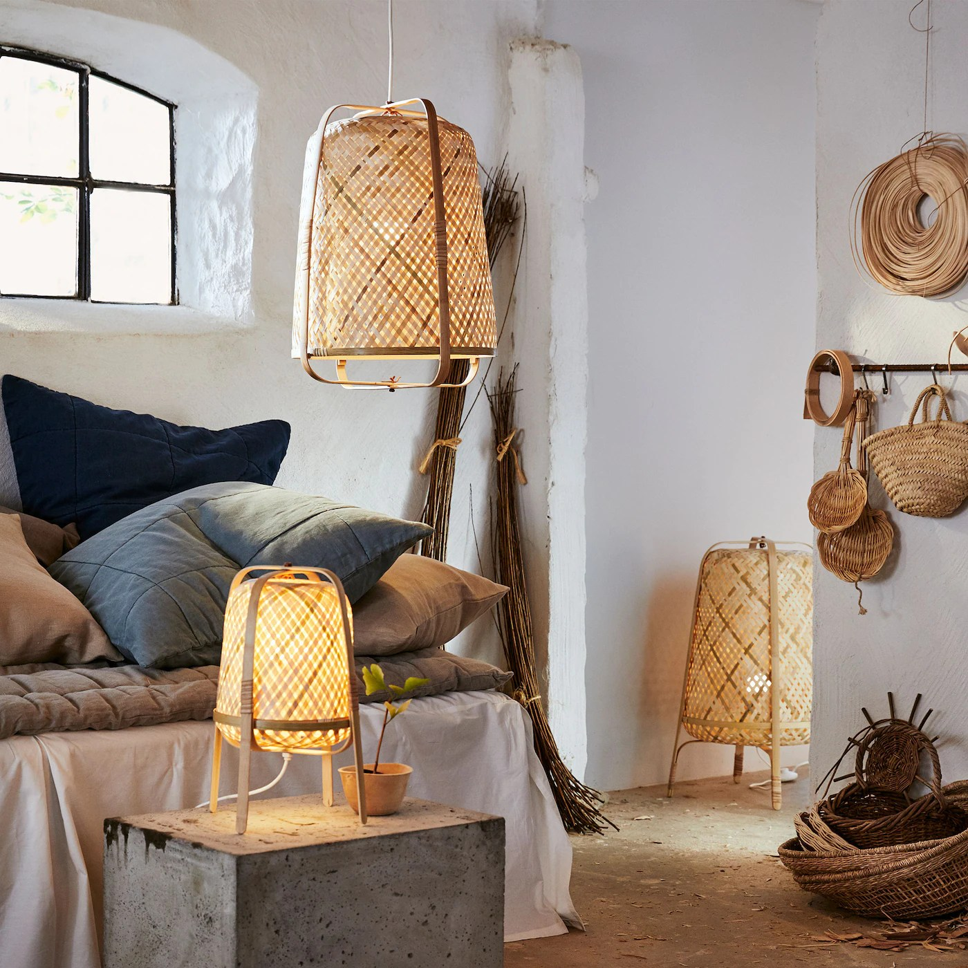 les luminaires en bambou chez vous
