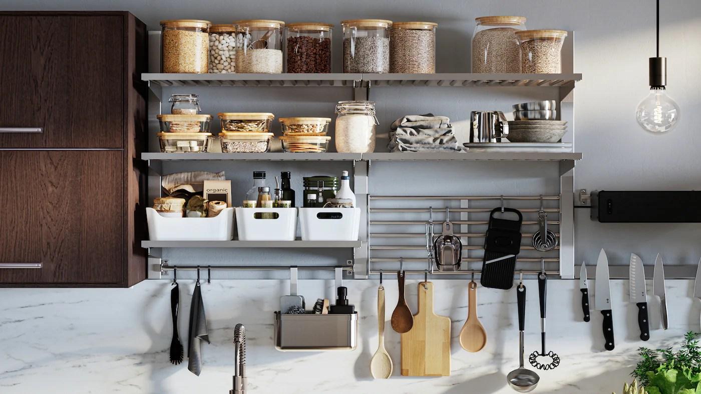 Visualizza altre idee su ikea, idee ikea, idee cucina ikea. Binari Portautensili E Mensole Da Parete Ikea It