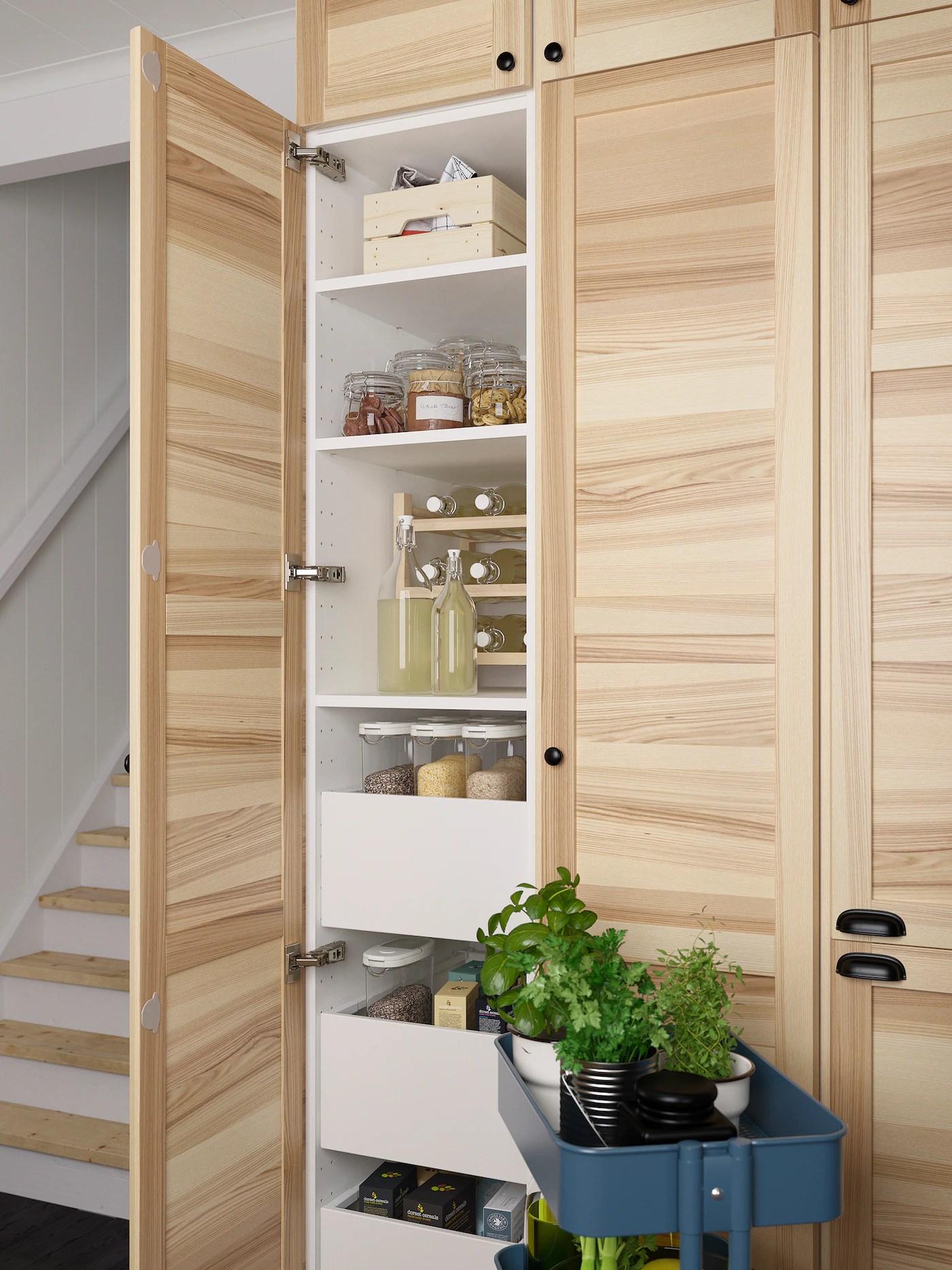 Elementi di diverse forme e profondità. Cucina Torhamn In Frassino Naturale Ikea It