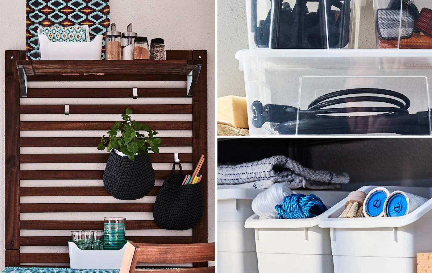 Outdoor Storage And Organising Balcony Ideas Ikea