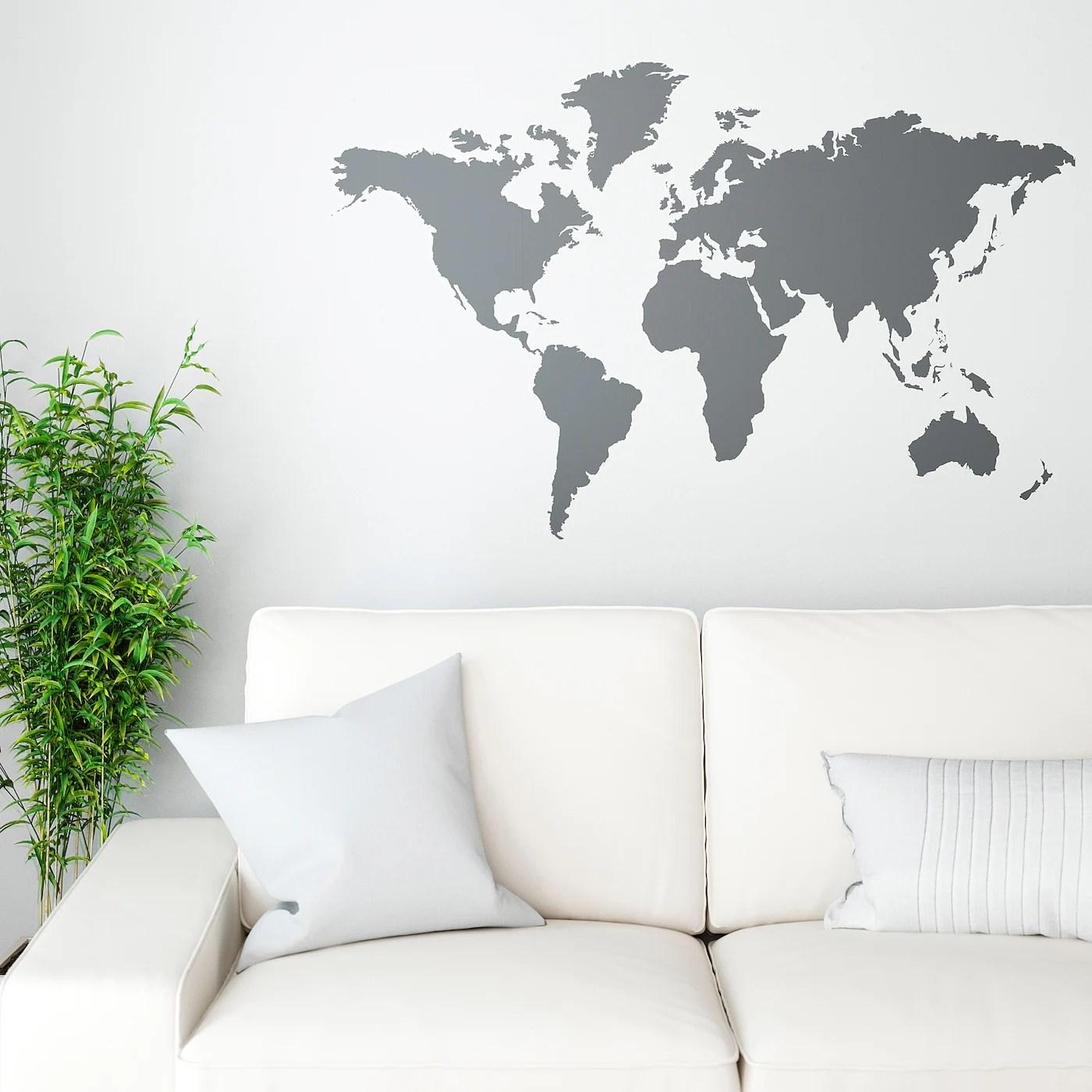 Dove posso acquistare le decorazioni adesive per pareti? Klatta Decorazione Autoadesiva Mondo Lavagna Ikea It