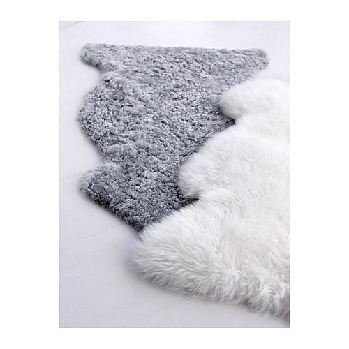 LUDDE Pelle di pecora, grigio