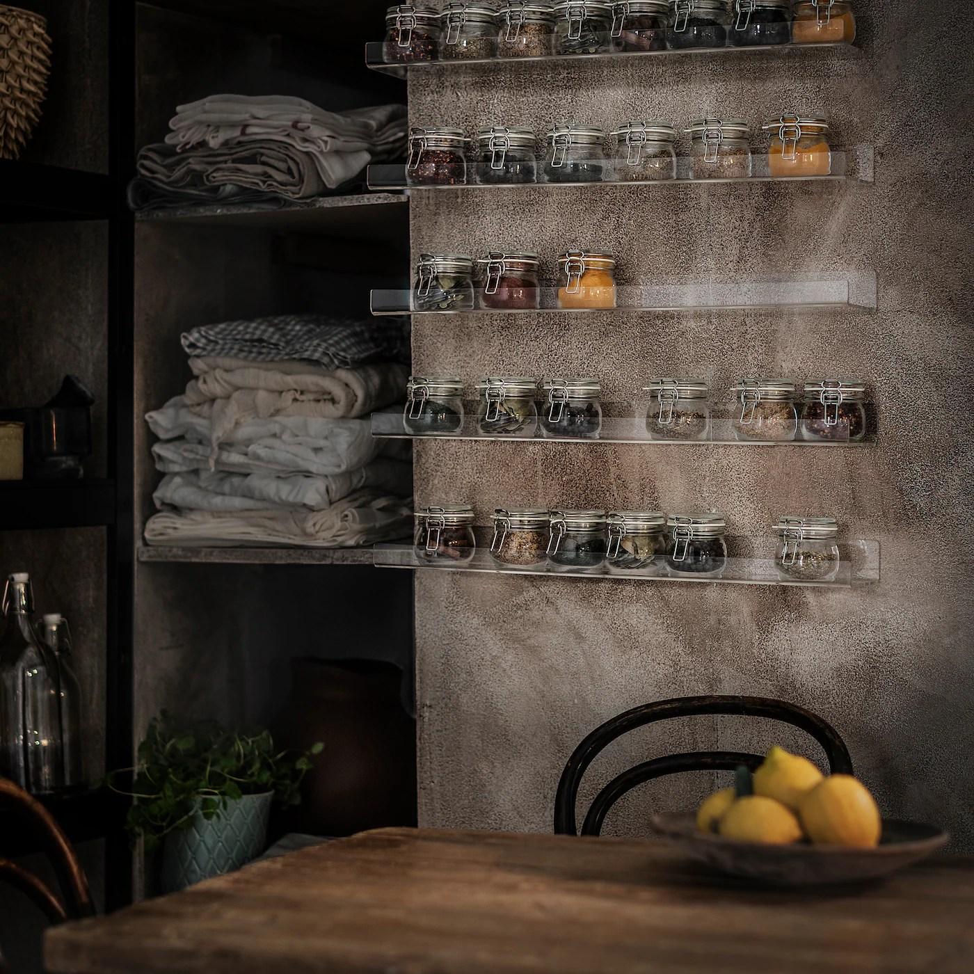 Vendo cucina ad angolo ikea acquistata in aprile 2015 con ante laxarby bianche o in vetro smerigliato + maniglie e pomelli faglavik in ottone, causa trasloco in aprile 2018 in una casa già corredata di cucina. Mellosa Mensola Per Quadri Trasparente Ikea It