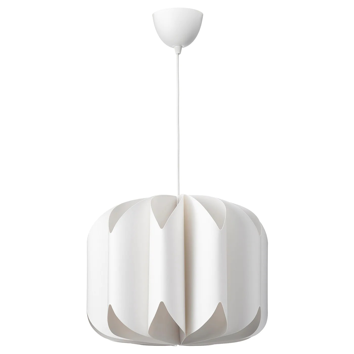 If you are looking for modern, affordable furniture to furnish your apartment or first home, ikea may be a good match. Mojna Paralume Per Lampada A Sospensione Tessuto Bianco 47 Cm Ikea It