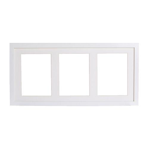 RIBBA Cornice IKEA Puoi scegliere se usare la cornice per 3 immagini di cm 13x18 o 1 immagine di cm 50x23.