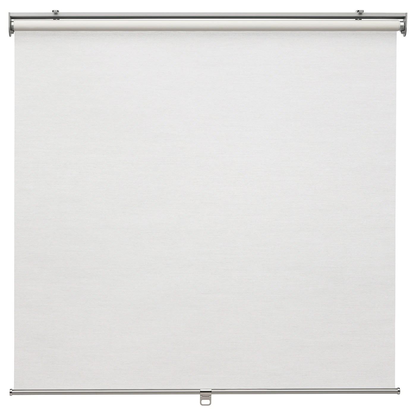 Il sistema presenta guide laterali che possono essere in alluminio o nylon trasparente, in modo tale che la tenda a rullo rimanga verticale e non sbatta contro le pareti in caso di forte vento. Skogsklover Tenda A Rullo Bianco 60x195 Cm Ikea It