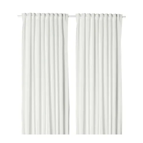 Merete Room Darkening Curtains 1 Pair White
