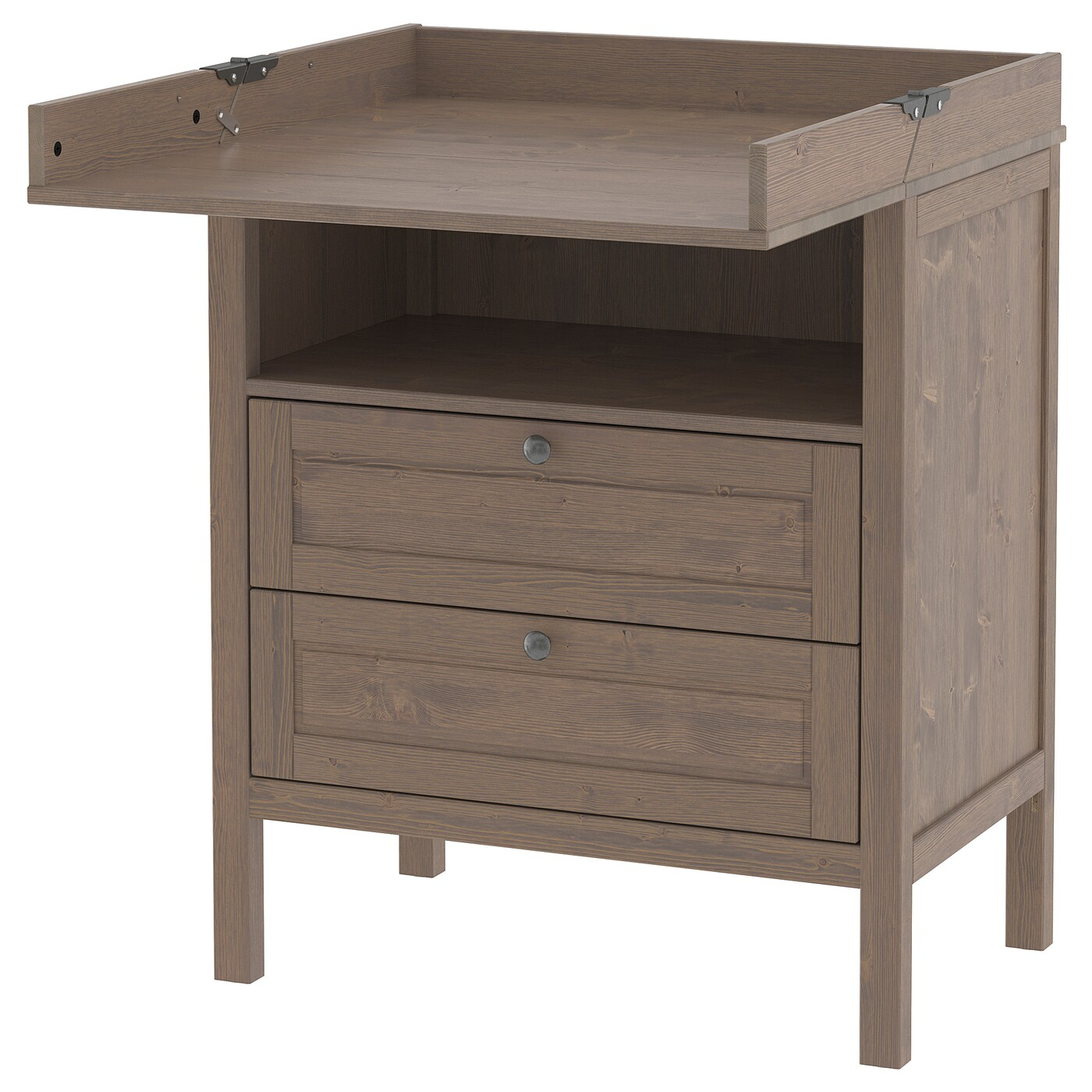 Sundvik Changing Tablechest Of Drawers Grey Brown
