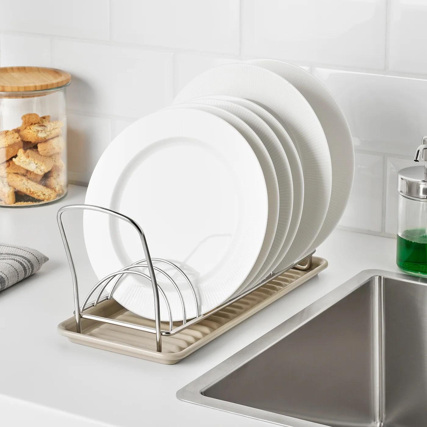valvardad dish drying rack stainless steel 12x32 cm