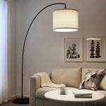 Skaftet Floor Lamp Base Arched Black Ikea