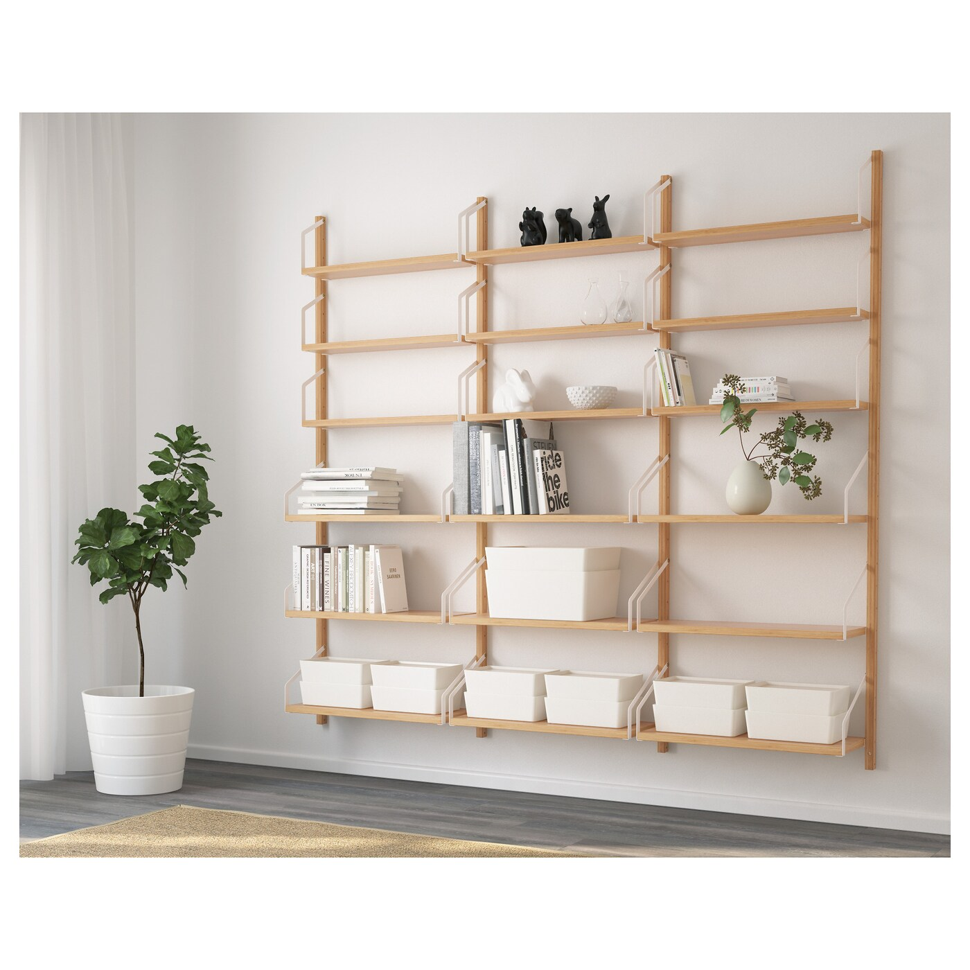 Svalnas Wall Mounted Shelf Combination Bamboo Ikea