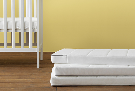 The Krumelur Cot Mattresses Are Thick And Have Two Diffe Surfaces One Wavy Side With