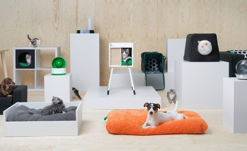 Ikea Pet Furniture. Yes Pet Furniture. Created by pet loving designers with support from trained veterinarians, the range covers all the bases of our shared life with pets indoors and out, so you and your pet can enjoy your home together.