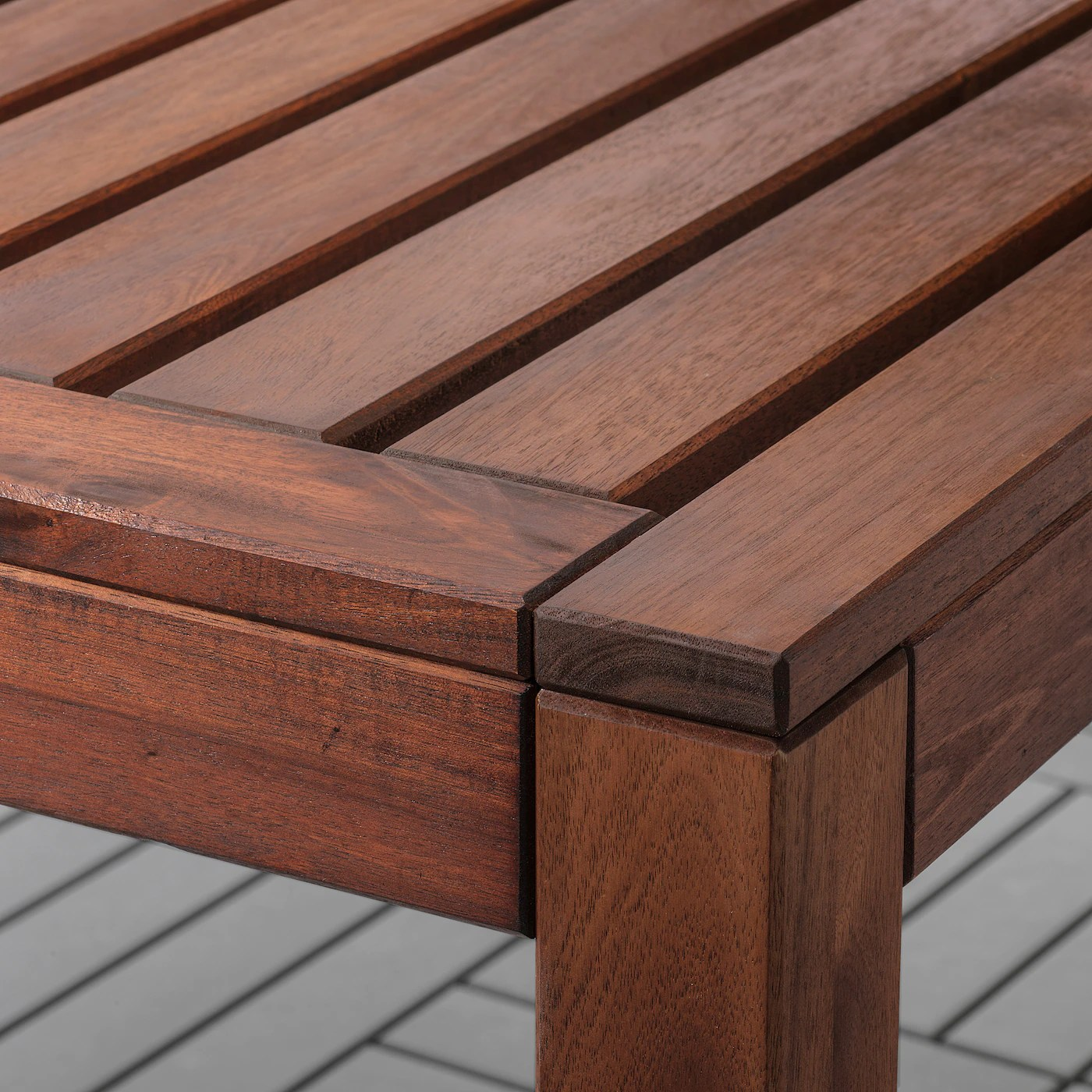 Applaro Table 6 Chairs Armr Bench Outdoor Black Ikea