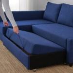 Friheten Corner Sofa Bed With Storage Skiftebo Blue Ikea