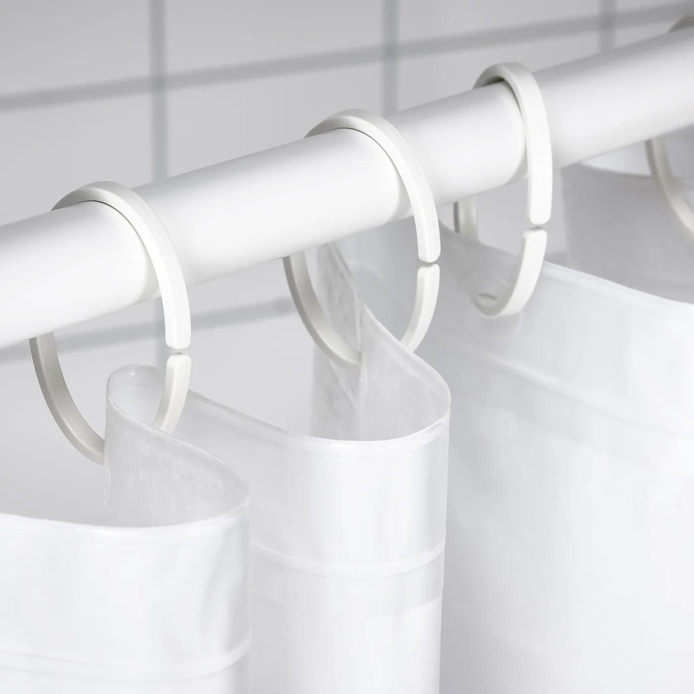hassjon shower curtain ring white