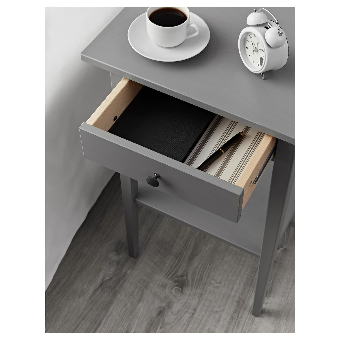 hemnes bedside table grey stained