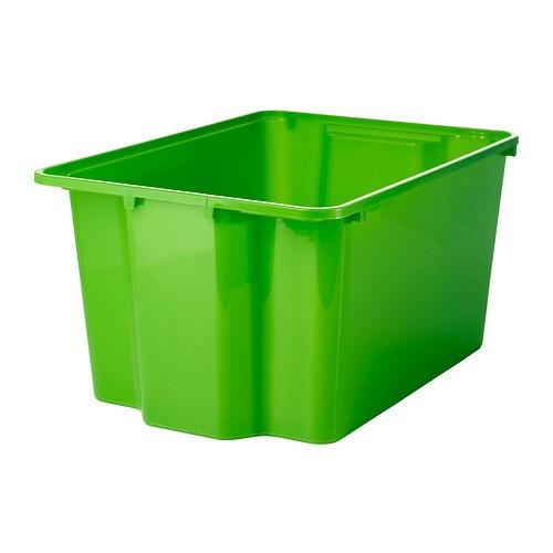 GLES Bak IKEA Perfect voor sportuitrusting, tuingereedschap of was- en schoonmaakattributen. Stapelbaar en dus plaatsbesparend indien niet in gebruik.