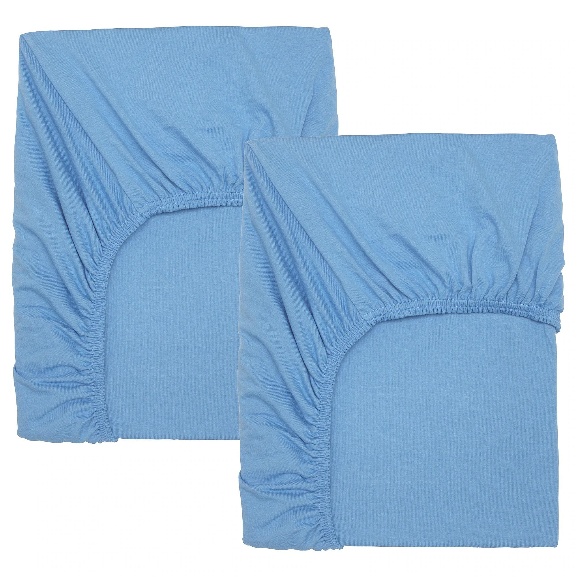 len drap housse pour lit bebe bleu clair 60x120 cm