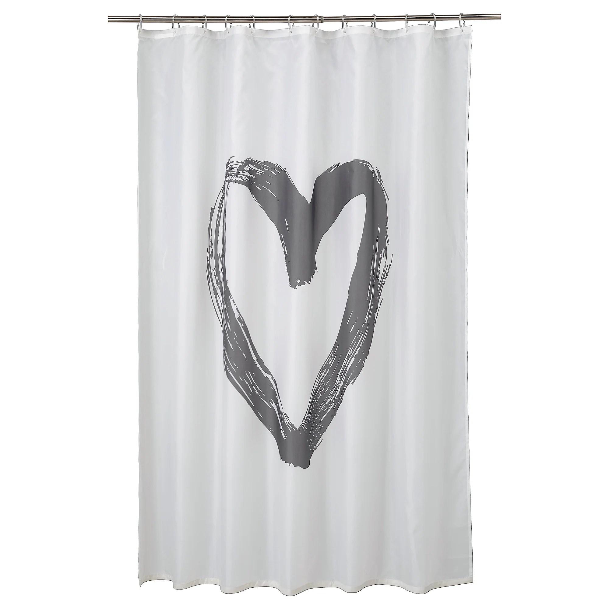 lyktfibbla rideau de douche blanc gris 180x200 cm