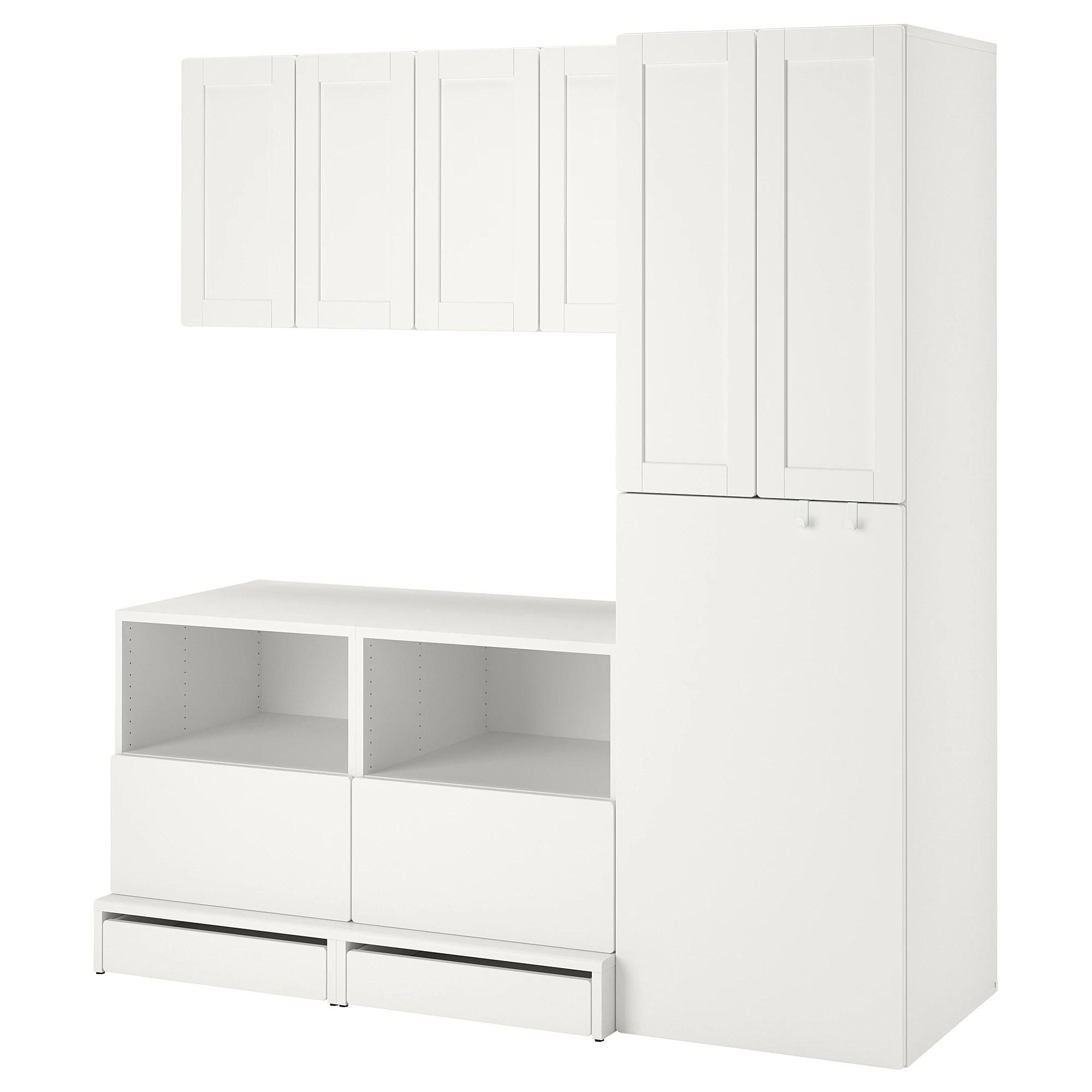smastad uppfora meuble de rangement blanc avec cadre coulissant 70 7 8x21 5 8x77 1 8 180x55x196 cm