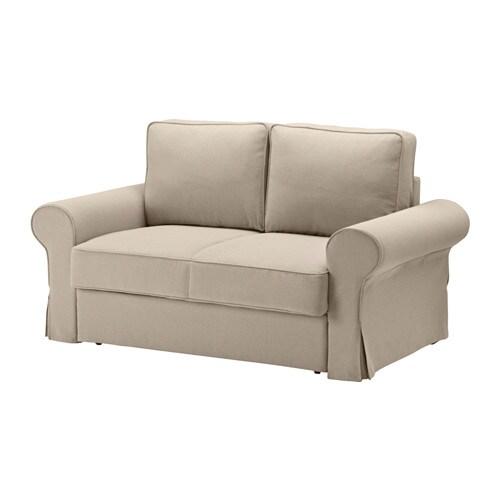 Backabro Sofa Dwuosobowa Rozkładana Hylte Beżowy Ikea