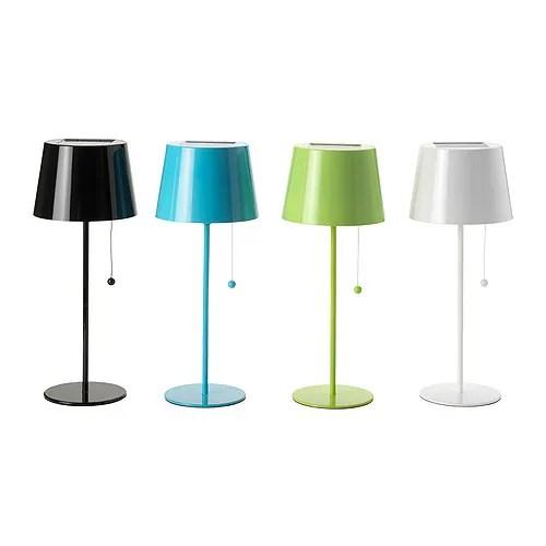 SOLVINDEN Solcellsbelysning bordslampa blandade färger Diameter: 16 cm Höjd: 40 cm