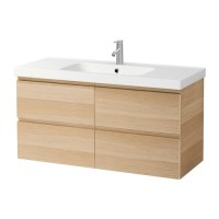 GODMORGON / ODENSVIK Wash stand with 4 drawers   white ...