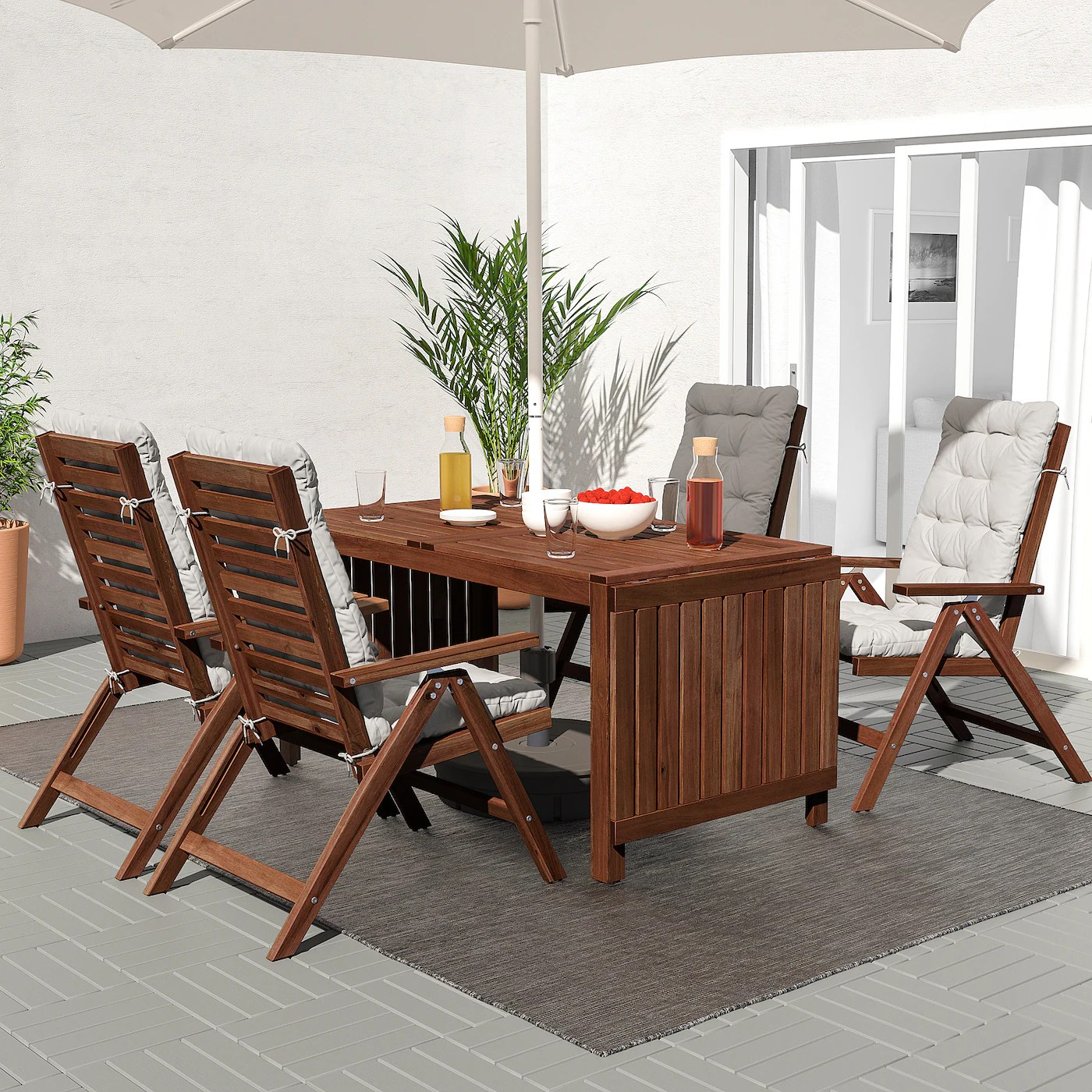 applaro drop leaf table outdoor brown stained 55 1 8 78 3 4 102 3 8x30 3 4
