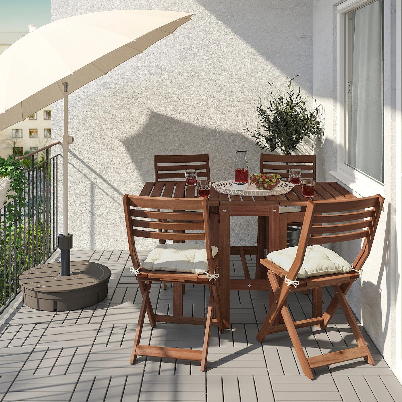 applaro gateleg table outdoor brown stained 13 3 8 32 5 8 51 5 8x27 1 2