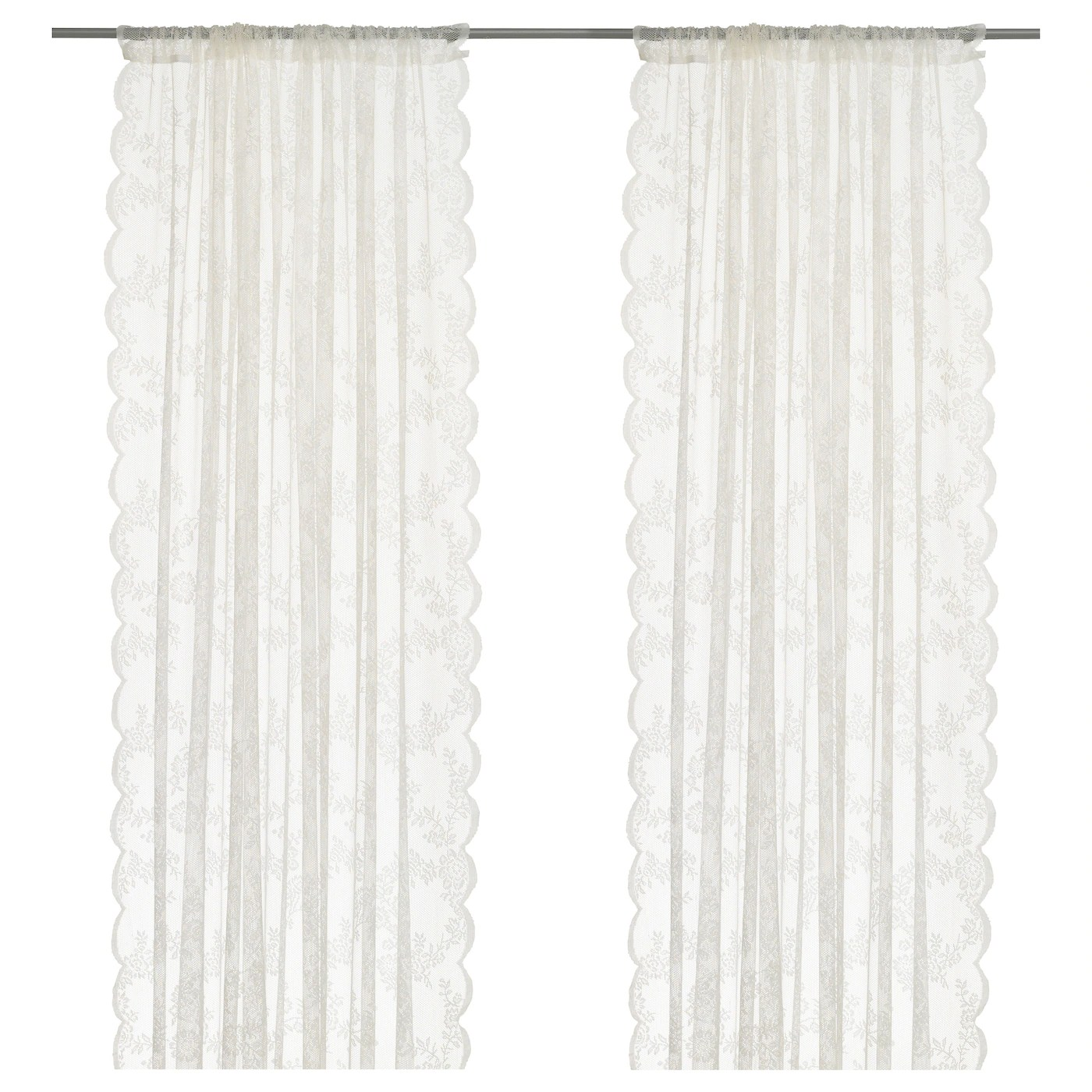 alvine spets lace curtains 1 pair off white 57x98