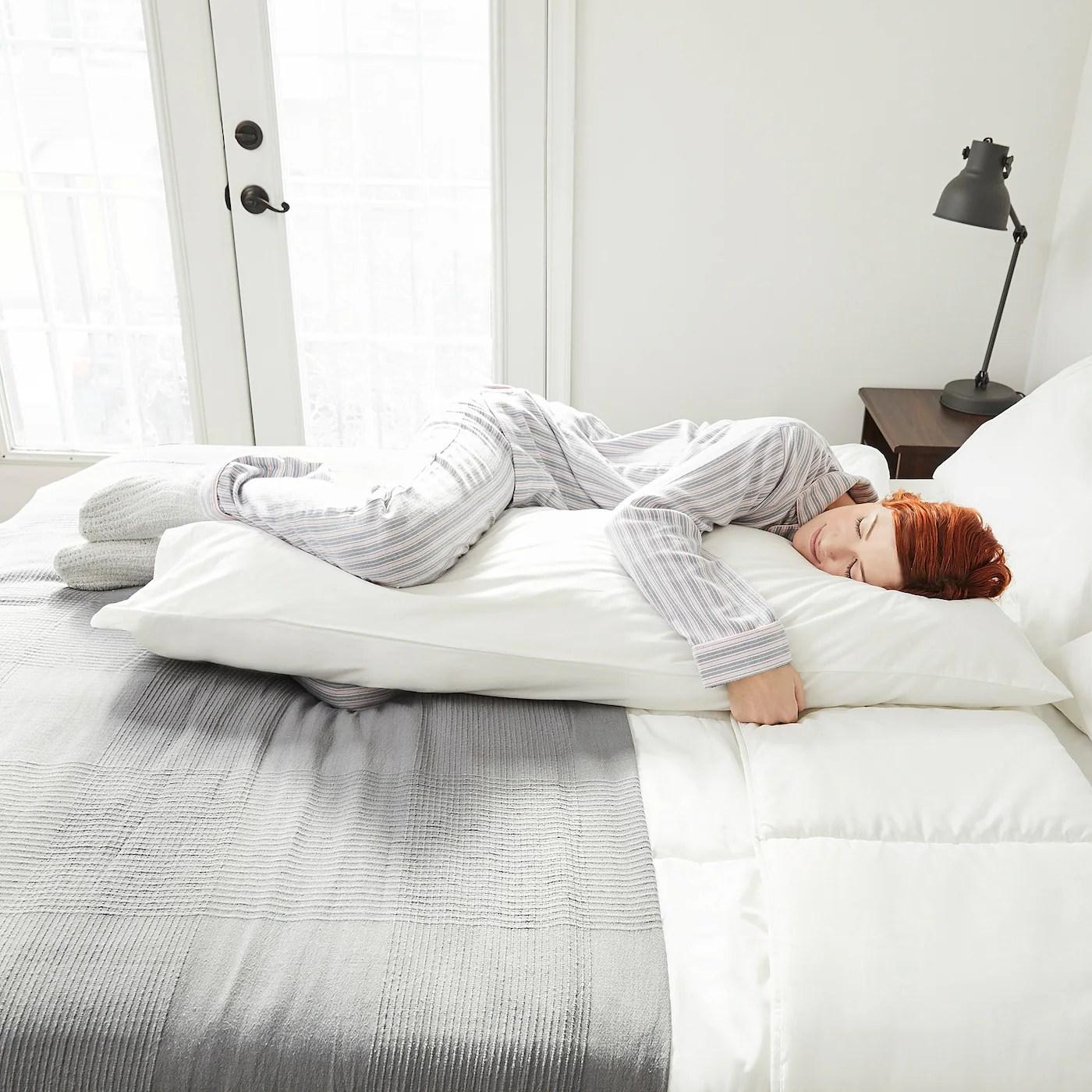 axfryle body pillow white 50x19 5 8