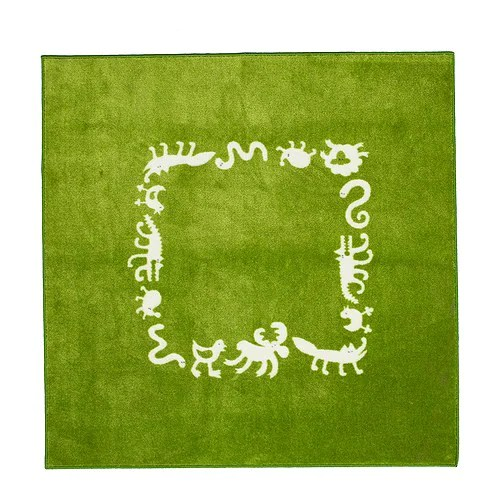 """BARNSLIG RINGDANS Rug, green Length: 4 ' 4 """" Width: 4 ' 4 """"  Length: 133 cm Width: 133 cm"""