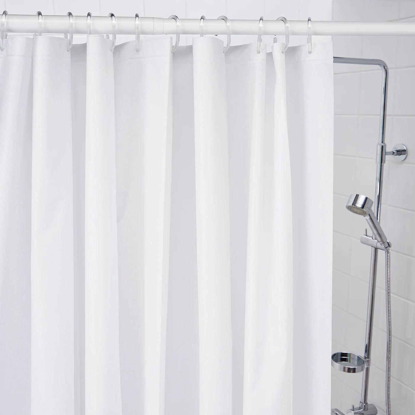 bjarsen shower curtain white 71x79