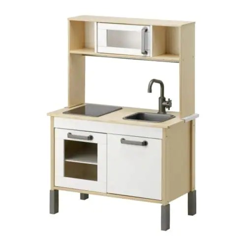 DUKTIG Play kitchen IKEA Encourages role play which helps children to develop social skills by imitating grown-ups and inventing their own roles.