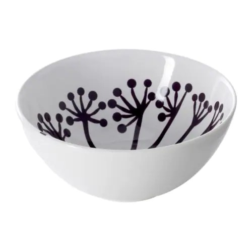 "FÄRGRIK HÖGST Bowl, white, dark lilac Diameter: 6 "" Height: 3 ""  Diameter: 16 cm Height: 7 cm"